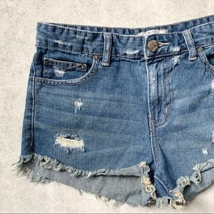Free People Distressed Hi-Rise Cut Off Shorts